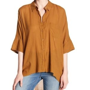 Free People Anthro best of me button down top